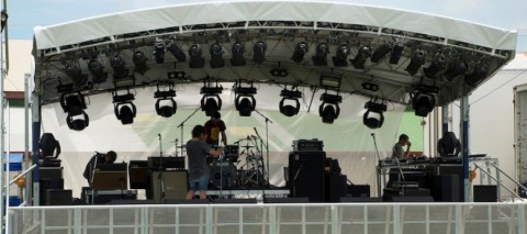 Stage - 8m x 6m curved Canopy - web
